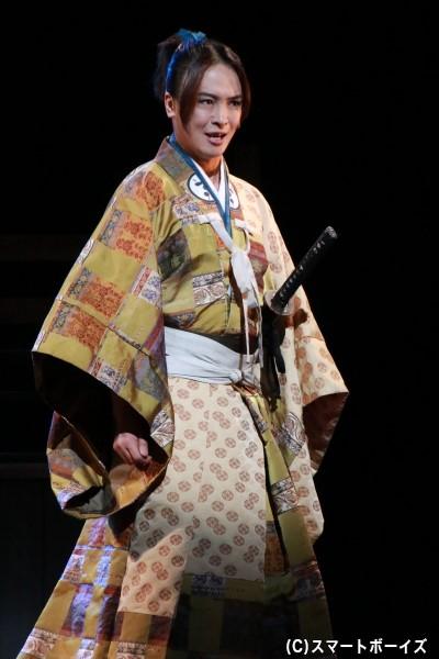 毛利輝元役の田渕法明さん