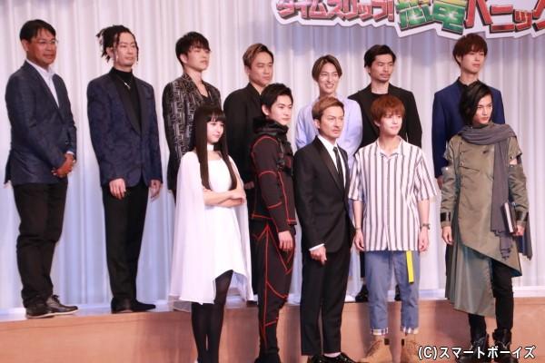 (左下段より)大幡しえりさん、押田岳さん、ISSAさん、奥野壮さん、渡邊圭祐さん (左上段より)TOMOさん、KENZOさん、KIMIさん、DAICHIさん、U-YEAHさん、YORIさん