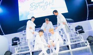後列左から・OMI(Actor:大海将一郎さん)、LEO(Actor:三谷怜央さん)、SION(Actor:吉高志音さん) 前列左から・MAGURA(Actor:助川真蔵さん)、RYO(Actor:滝澤諒さん)