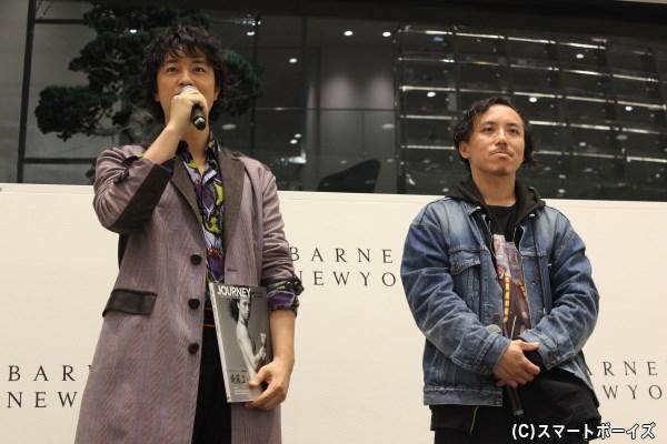 世界と日本を代表する写真家×俳優にもかかわらず、気さくな雰囲気での会見でした