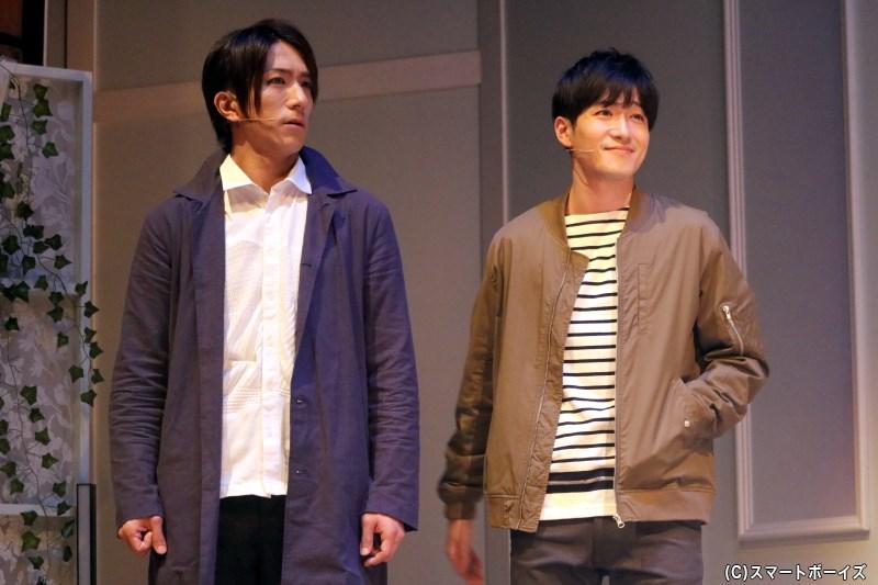 (左から)門脇将太役の鈴木翔音さん、長岡 博役の阿部晃介さん