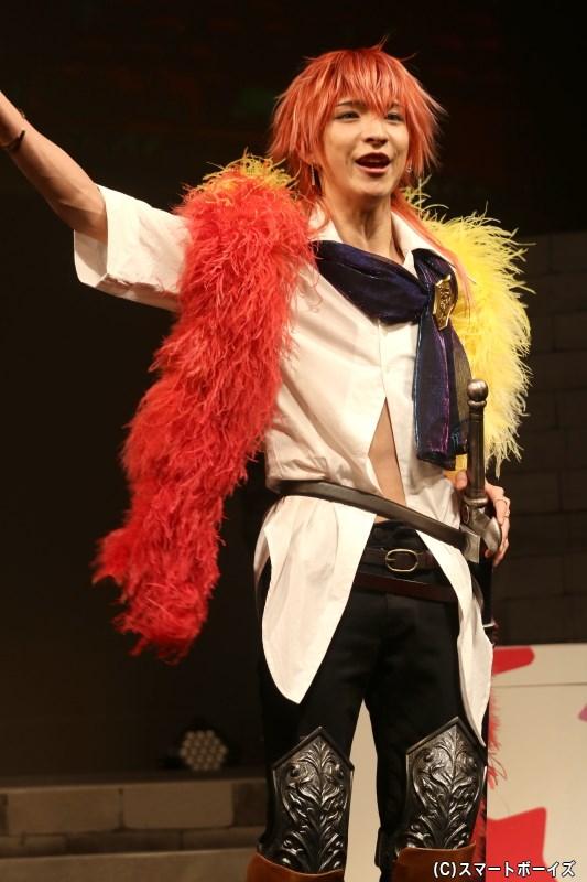 ミリドニアに現れた芝居小屋の、ナレクにそっくりな役者・ベレク役の後藤 望さん