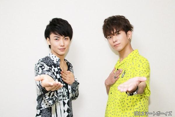 『Like A』room[003]に出演する平牧仁さん(右)と内海啓貴さん(左)
