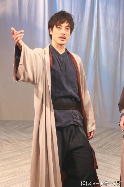 蘇我安麻呂(そがのやすまろ)役の竹岡常吉さん