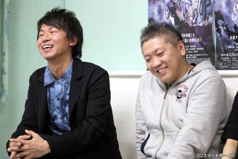 (左から)プロデューサーの今泉 潤さん、脚本・演出の宮城陽亮さん