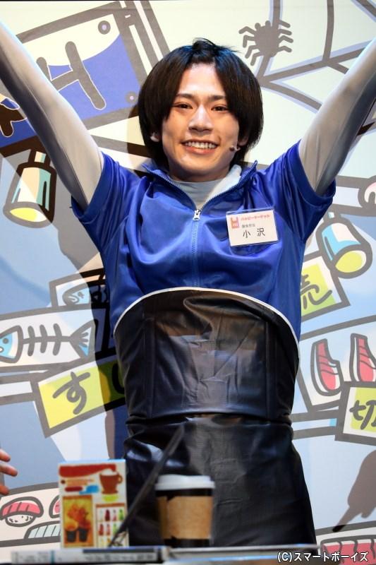 客の押しに弱く、どんどん値引きしてしまう鮮魚担当・小沢 理役の阿部快征さん