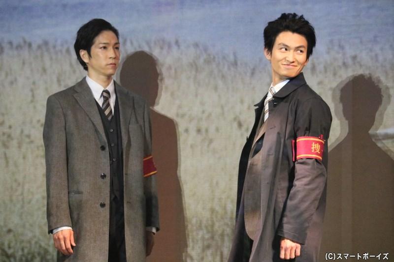 監視役として雪平と組む安藤一之(右・松田 凌さん)は、雪平の捜査をサポートする