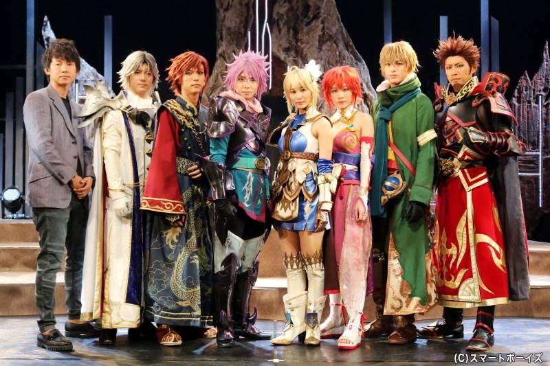 開幕会見では今泉 潤さん(写真左端)とともに、キャスト陣が見どころをコメント