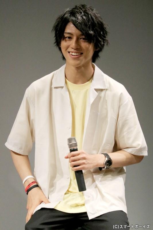 素直過ぎるトークと笑顔で会場を和ませてくれた、第1部ゲスト・岩城直弥さん