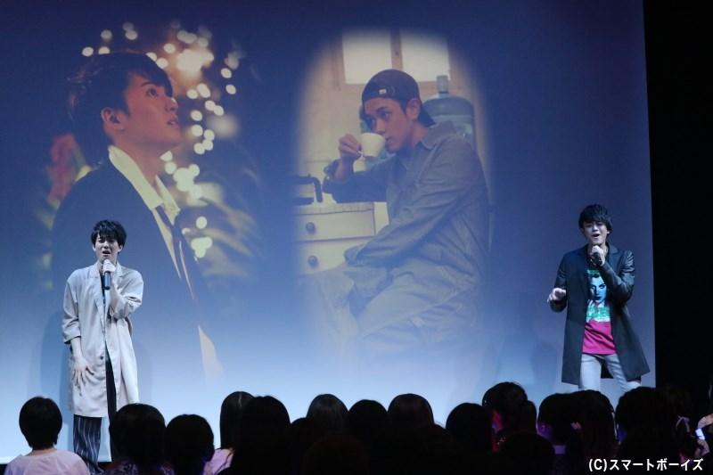 前田さんとの息の合った歌声で、会場の空気を切なく彩っていきます
