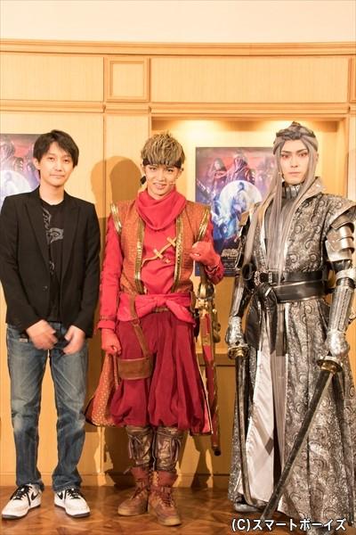 (左から)演出・上演台本を担当する元吉庸泰さん、佐藤大樹さん、増田俊樹さん