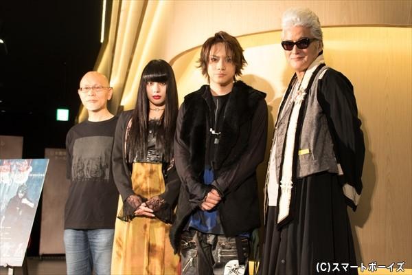(左より)鈴木勝秀さん、仲 万美さん、佐藤流司さん、陣内孝則さん