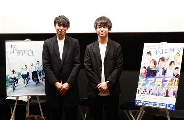 藤井道人監督(左)と風間太樹監督(右)
