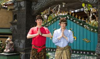 ご祈祷前の正装、ふたりが着るとオシャレです♪
