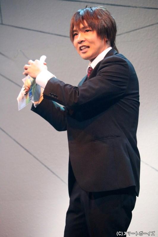 かつては高校球児、殺人請負会社「マーダー・インク」の新入社員・斉藤(安達勇人さん)