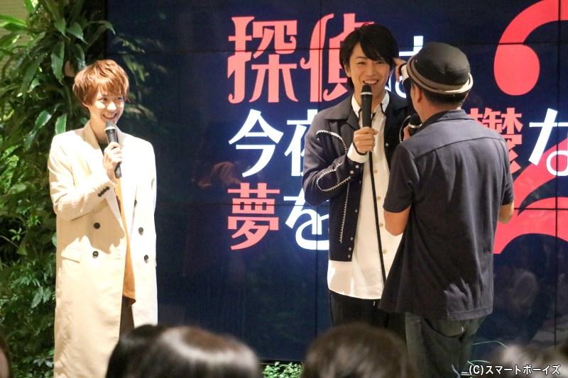 廣瀬さんのマイペーストークに、小越さん&毛利監督もツッコミつつ大笑い!