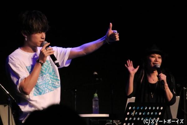 岸本さんとのセッションでは「家庭教師ヒットマンREBORN!」や「遊☆戯☆王VRAINS」のナンバーを披露
