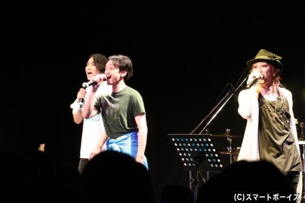 郷本さん&永山さんが登場し、ミュージカル『青春-AOHARU-鉄道』の「つながる青春」をセッション