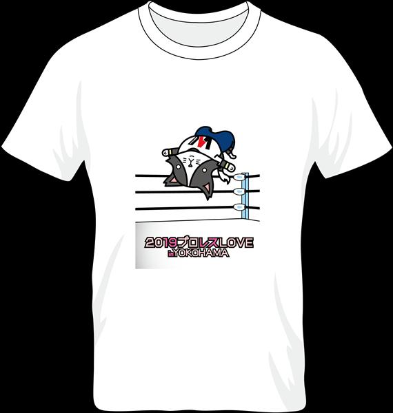 """「猫ひた」×「W-1」コラボTシャツ 番組のシンボル""""猫ロゴ""""が、武藤さんの代名詞でもあるムーンサルトプレスをしているデザイン!"""