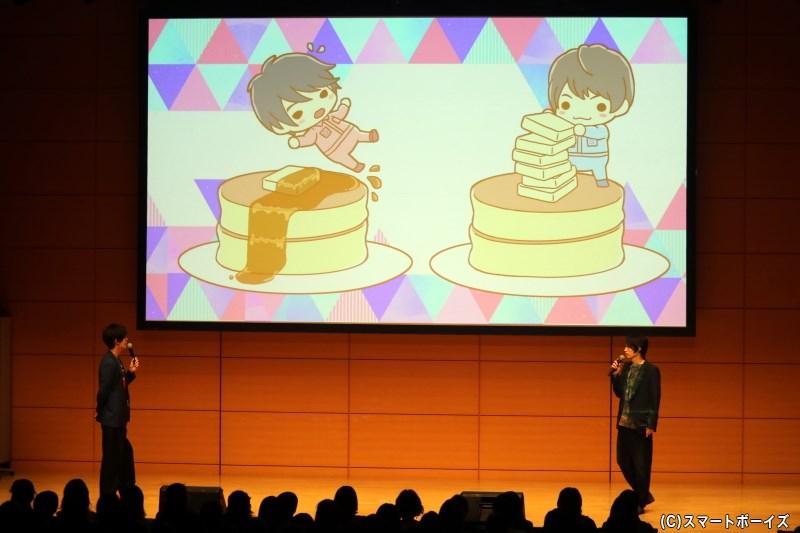 左が高本さん、右が菊池さんのキャラクターイラスト