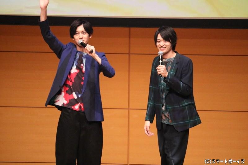 (左から)菊池修司さん、高本 学さん