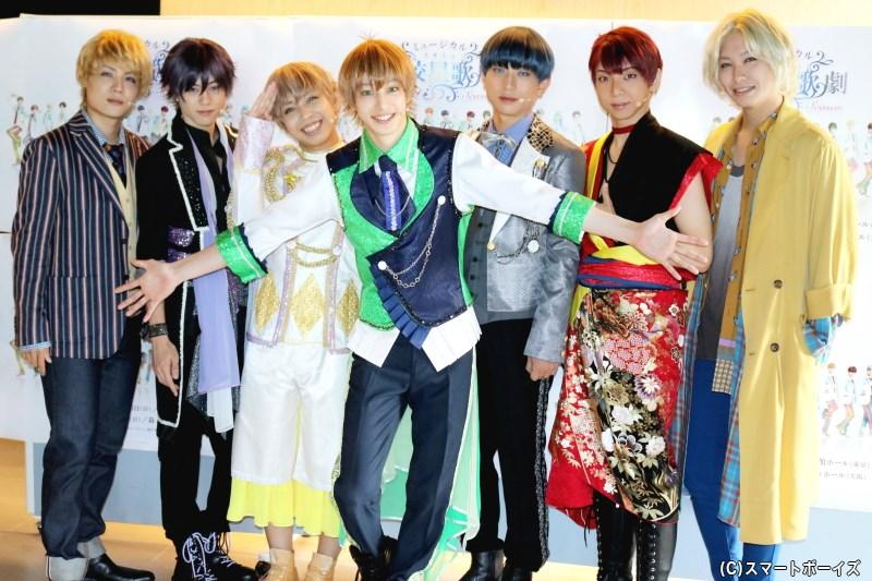 (左から)樋口裕太さん、新里宏太さん、山中翔太さん、杉江大志さん、反橋宗一郎さん、橘 龍丸さん、法月康平さん