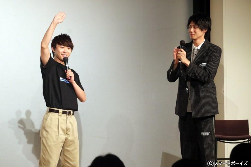大好きな須賀さんの登場に、小坂さんもさらにハイテンションに!