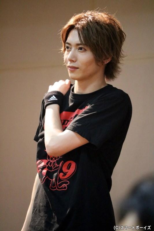 イベントの主役・染谷俊之さんも、「染フェス」Tシャツでスポーティに登場