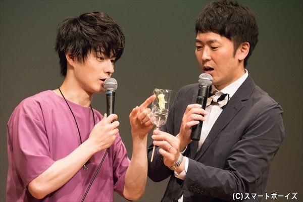 アメ細工のクマの手と足にある点々は……「手と足の目印」という松村さんに、せとさんは「串刺しにされてるのかと思った!」と驚き