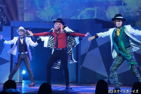 Lancelot (左より)三千院鷹通役の黒貴さん、轟一誠役の吉岡佑さん、赤羽根双海役の坂垣怜次さん