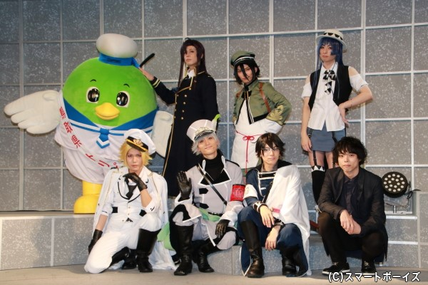(左前列より)宮城紘大さん、永瀬匡さん、糸川耀士郎さん、松崎史也さん (左後列より)上杉輝さん、山本タクさん、田口涼さん