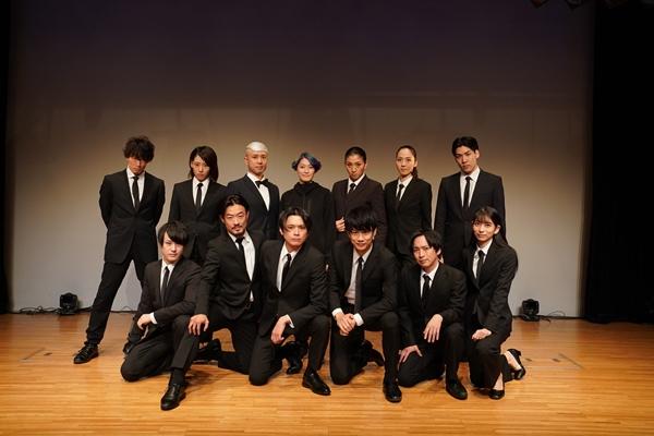 馬場良馬さん(前列右より3番目)、相馬圭祐さん(前列右より4番目)ら、実力派キャストが集結!