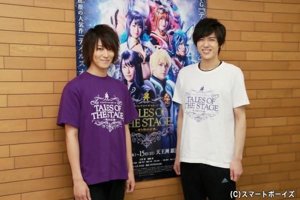 囲み取材に登壇した吉澤翼さん(左)と加藤将さん(右)