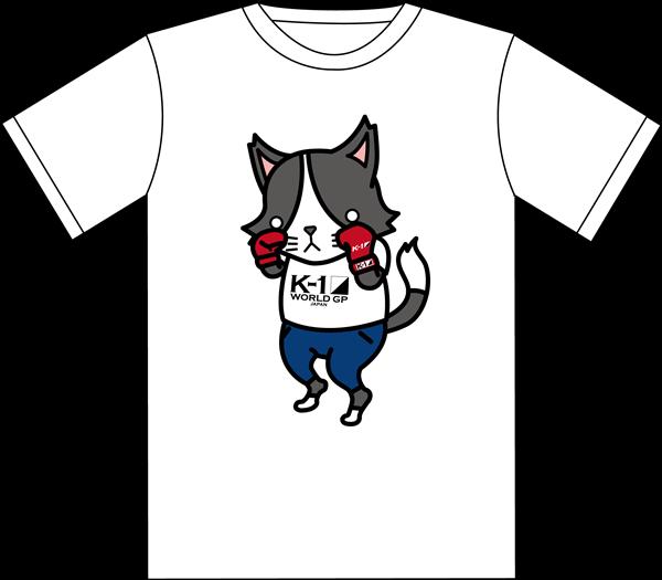 『K-1』×『猫のひたいほどワイド』コラボTシャツ