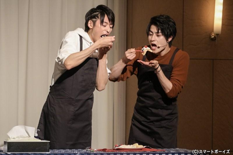 2人のチームワークもあって、ホットケーキ作りは大成功でした!