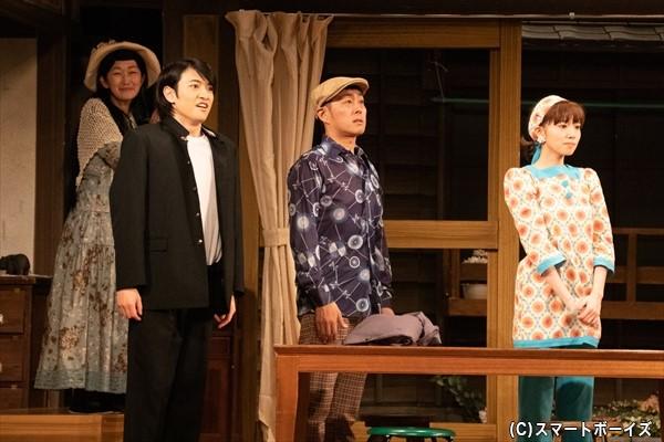 兼子の片思いの相手は……?(左より、川村さん、松村さん、宅間さん、飯豊さん)