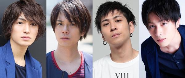 (左より) 松田凌さん、平野良さん、井澤勇貴さん、鈴木勝吾さん