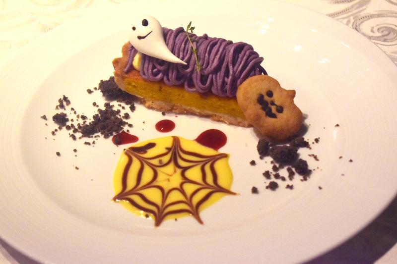 ハロウィン仕様のデザート