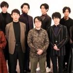 (後列左から)田中涼星さん、南 圭介さん、岐洲 匠さん、高崎翔太さん (前列左から)黒崎真音さん、北園 涼さん、奥 秀太郎監督、松村龍之介さん、宮原華音さん