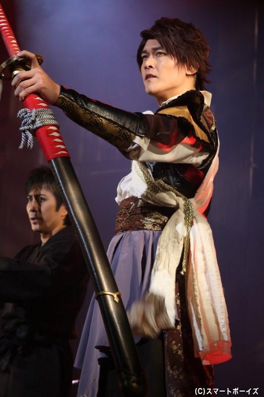 武田信玄役の横山真史さん