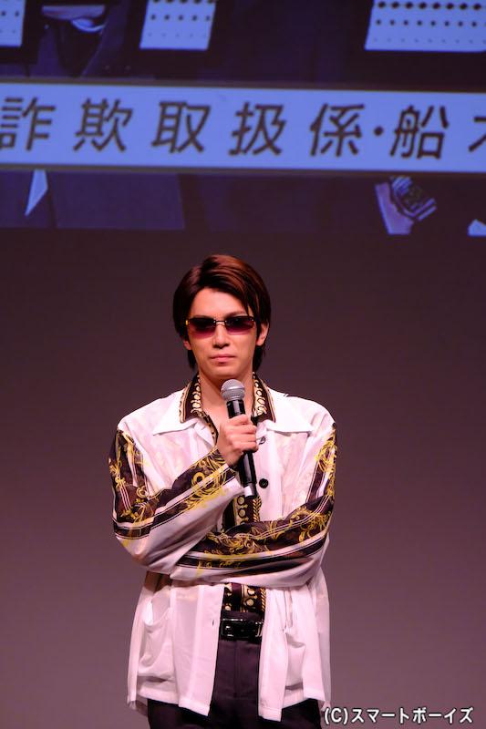 第2部では本編の衣装で登場! ヤンキー(?)風の糸川さん