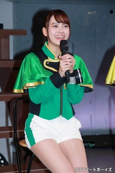 新條さん演じる速見瀬奈は100mの日本記録を持つ女子陸上界のスピードスター