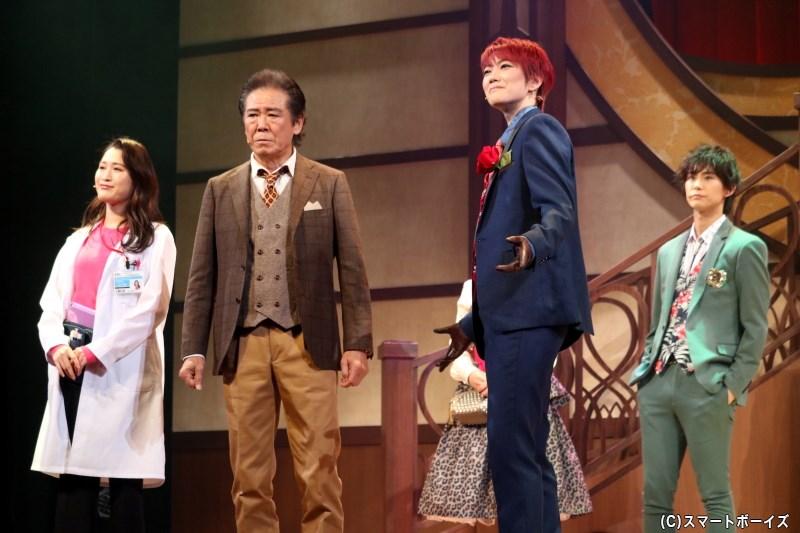 レッドの助手/沢口役の後藤夕貴さん(写真左端)
