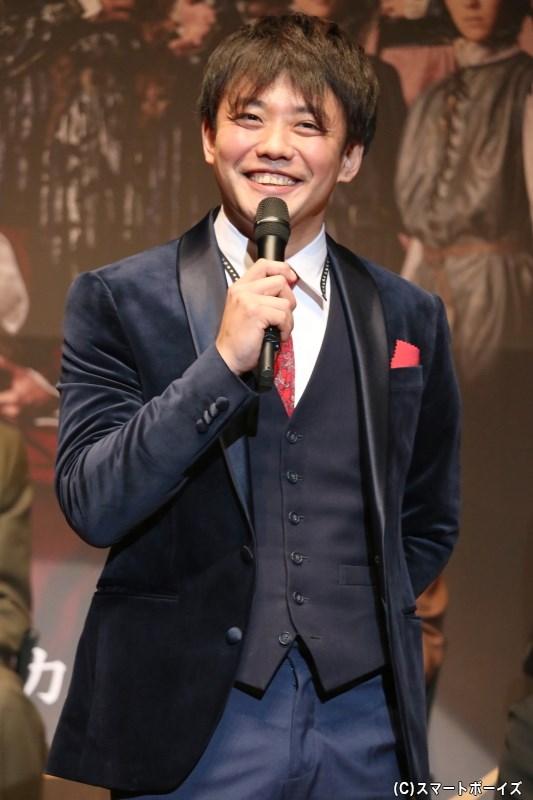 ダンテ・アリギエーリ役の藤岡正明さん