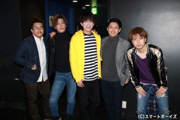 (左より)吉谷光太郎さん、君沢ユウキさん、山本裕典さん、富田翔さん、桑野晃輔さん