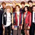 (後列左から)中島 健さん、梅津瑞樹さん、北川尚弥さん、松田昇大さん (前列左から)丸尾丸一郎さん、定本楓馬さん、真田佑馬さん、石井美絵子さん、財木琢磨さん