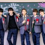 銀河団の5人が高校生役で出演のPVが完成! (左から)澤田優、織部典成、木原瑠生、矢代卓也、宮内伊織