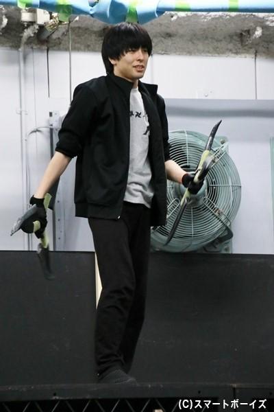 猿飛佐助役の松藤拓也さん
