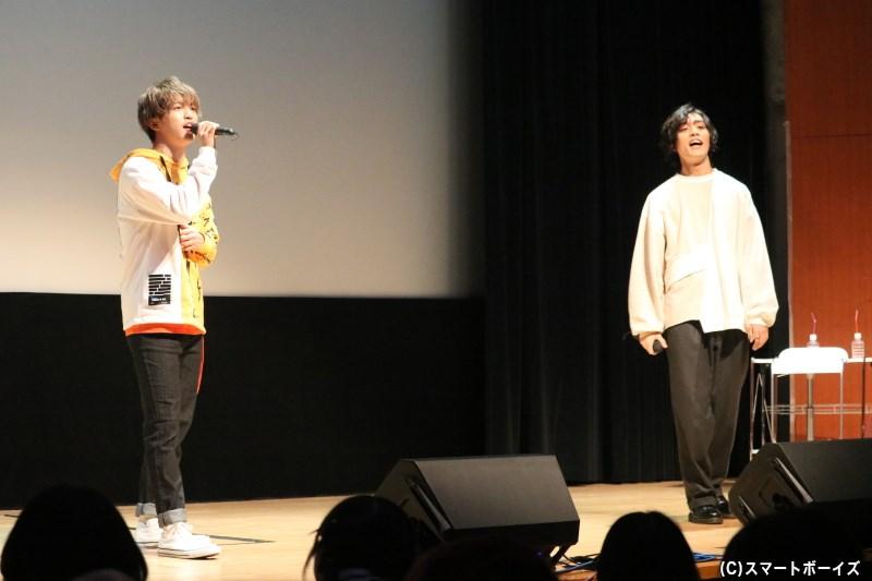 ファンの皆さんへの想いを込めて、2人が歌声も披露!