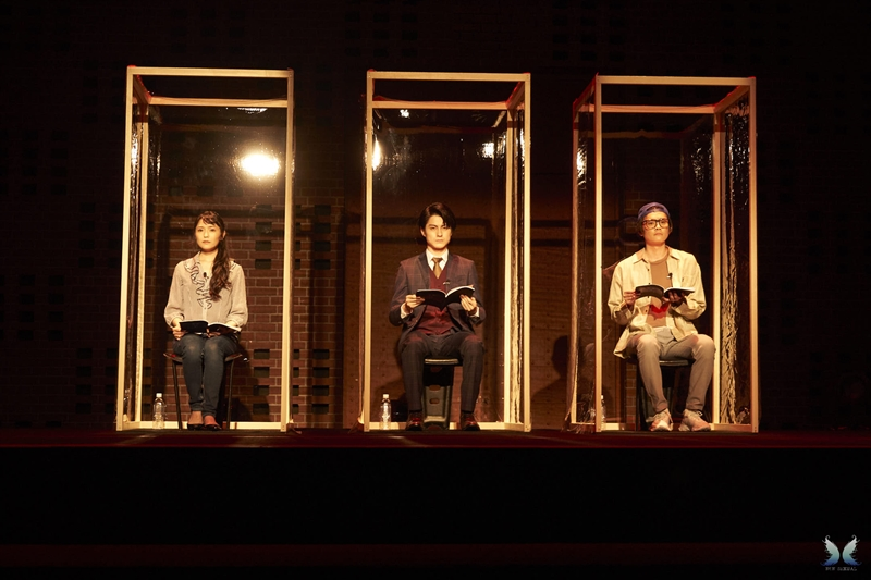 cap:左より、さかいかなさん、松村龍之介さん、相馬圭祐さん